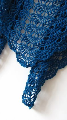 Fall River Shawl Free Crochet Pattern Elegant and lace shawl for every woman. You can make a shawl in various colors. The suggested yarn is Schoppel-Wolle Zauberball® Crazy. Crochet Alpaca Shawl - Blue Lace Shawl - Ready To Ship Image gallery – Page 48 Beau Crochet, Poncho Au Crochet, Knitted Shawls, Crochet Scarves, Hand Crochet, Knit Crochet, Lace Shawls, Ravelry Crochet, Crochet Fall