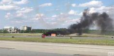 VÍDEOS | Se estrella avión en show de acrobacias....