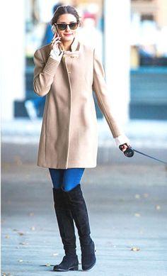 brunette in camel - Olivia Palermo
