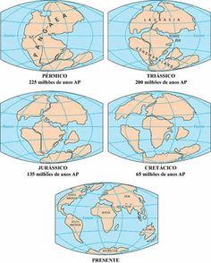 Deriva continental: Pangeia deu origem aos continentes - Pesquisa Escolar - UOL Educação
