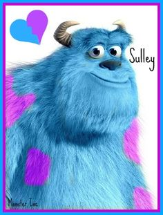 Favorite Disney character!!!! Monster's Inc. Sulley      (my personal images are used in my #audio  #ebooks for #Children 3-7 and #Illustrative #Poetry, available at www.jamesagrove.ca)