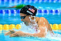 Rebecca Soni.  I wish I was half as good as her when I swam...