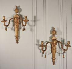 Paire d'appliques de style néoclassique, fin du XVIIIe siècle