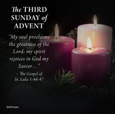 Third Sunday of Advent 12/17/2017 ❤️ Third Sunday Of Advent, Advent Prayers, Savior, Pillar Candles, Bible Verses, Christmas, Holiday, Warriors, Salvador