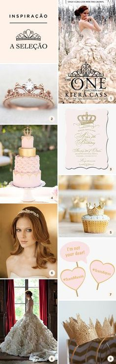 Veja ideias e inspirações para festa de 15 anos com o tema A Seleção, série de livros de Kiera Cass. Sweet Fifteen, Sweet 16 Decorations, Wedding Decorations, Wedding Themes, Romantic Wedding Colors, Beach Wedding Favors, Party Time, Birthday Parties, Bridal Shower