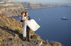 Caldera View, Bride And Groom, In Love, Happy, Moments, Memories, Santorini Weddings