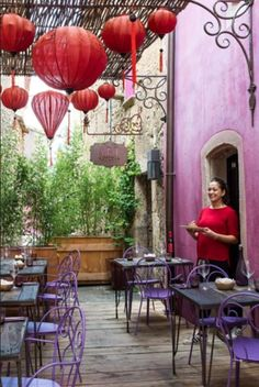 This colourfull and tasty restaurant terrace is from our feature Castigno's Whimsical World""