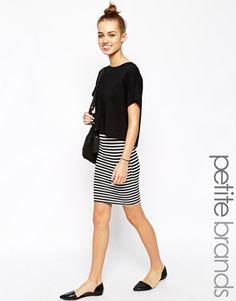 Enlarge New Look Petite Stripe Pencil Skirt