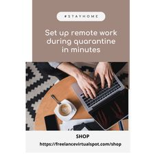 In this where most of us are in that was brought by this we can work from home. Set-up a home office and work remotely to global clients. Own Home