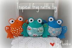 tropical frogs by Katia Donohoe, via Flickr