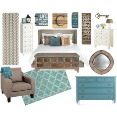 """""""Country Chic Bedroom"""" by amandaloverstreet on Polyvore"""