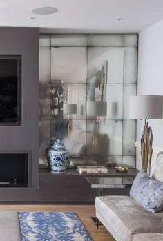 homify / Rupert Bevan Ltd: Fireplace Wall Alcove Mirrors: classic Living room by Rupert Bevan Ltd