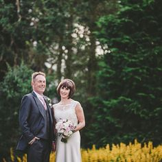 Julie and Peter on their wedding day at Horton Grange Fine Art Wedding Photography, Yellow Flowers, Wedding Day, Couple Photos, Wedding Dresses, Fashion, Pi Day Wedding, Couple Shots, Bride Dresses