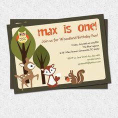 Happy Squirrel Nuts Birthday Party Invitation Squirrel