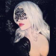Elena Vladi aka Deemona Mortiss ♥ Gothic Angel, Female Mask, Gothic Models, Platinum Hair, Red Queen, Red Wedding, My Favorite Color, Masquerade, My Girl