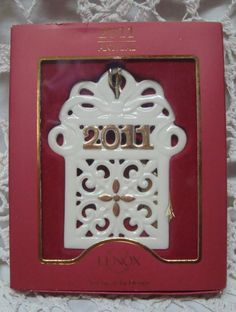 """Lenox 2011 """"A Year to Remember"""" Gift series Ornament"""