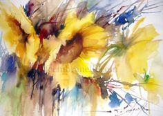 Wet in Wet Demo, Spain- 2012, original painting by artist Fabio Cembranelli | DailyPainters.com