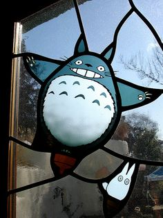 "Totoro in my window??? yes!!!  Totoro and Chibi Totoro from ""My Neighbor Totoro"" by Eoghan Lynch, via Flickr"