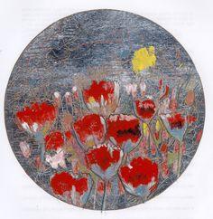 Ignacio Klindworth. Las flores y la #plata. Obra sobre papel y técnica mixta 30x30. Madrid 2006. www.ignacioklindworth.es