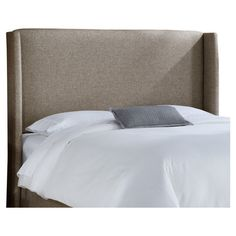 Upholstered wingback headboard with foam padding and a pine wood frame. Handmade in the USA.  Product: HeadboardCons...