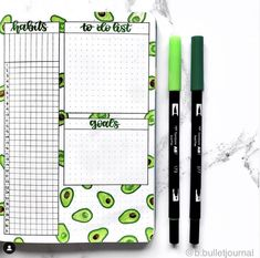 Looking for an avocado theme for your bullet journal? Here are beautiful bullet journal ideas for monthly, weekly, habit trackers and more in avocado theme. Bullet Journal Tracker, Bullet Journal School, January Bullet Journal, Bullet Journal Notebook, Bullet Journal Themes, Bullet Journal Layout, Bullet Journal Inspiration, Journal Ideas, Bellet Journal