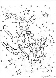 Christmas Coloring Activity Sheets Elegant Coloring Pages Santa Sleigh Perhaps for Stocking Christmas Santa Coloring Pages, Coloring Pages To Print, Adult Coloring Pages, Coloring Pages For Kids, Coloring Books, Christmas Coloring Sheets, Printable Christmas Coloring Pages, Christmas Printables, Christmas Colors