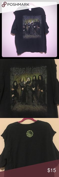 ☠️☠️Cradle Of Filth deconstructed T☠️☠️ Pre-loved Cradle of Filth T-Shirt that I deconstructed to show off my tattoos. So metal. Very wow. Come on you know you want this!!!! ☠️☠️☠️🤘🏻🤘🏼🤘🏽🤘🏾🤘🏿☠️☠️☠️ Tops Tees - Short Sleeve