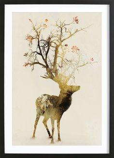 Autumn als Poster im Holzrahmen von Dániel Taylor   JUNIQE