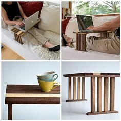 Bedside Laptop Table Wood Lap Desk Sofa Table End Table Koko