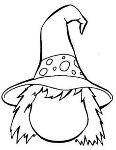 3 Witches Coloring Page Black White