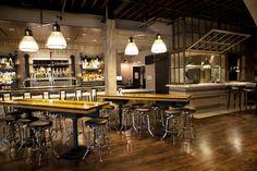 Communal Tables in the Bar. Public School 310 Preps to School Culver City Dec 10 - First Look - Eater LA
