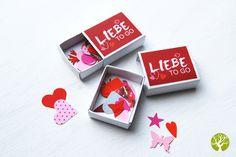 Kleines Geschenk: Liebe To Go / love to go, little gift, valentines day by ideenbaum via DaWanda.com