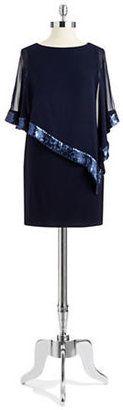 Xscape Sequin Popover Shift Dress $169 thestylecure.com