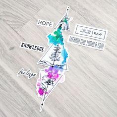 Hope-knowledge-feelings, a symbolic dotwork design for Valeria Vento (IG: @valeriaventonutricionista)