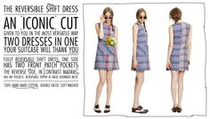 i love this company's story and values - and the dress is rad! and reversible. THE REVERSABLE SHIFT DRESS {from IOU project }