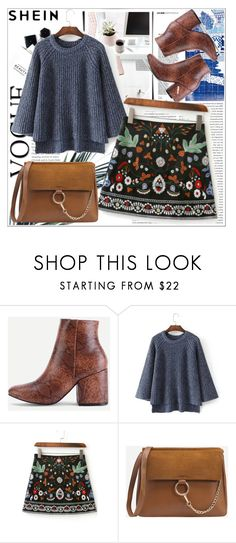 """""""Date night with SHEIN.Shop this look"""" by maiah-bee ❤ liked on Polyvore featuring H&M"""