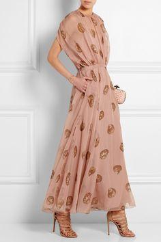 Valentino | Robe longue du soir en mousseline de soie imprimée | NET-A-PORTER.COM