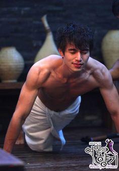 Lee Dong Wook Abs, Lee Dong Wook Goblin, Lee Dong Wok, Asian Actors, Korean Actors, Korean Drama Romance, Goblin Korean Drama, A Werewolf Boy, Sexy Asian Men