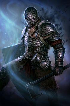 ArtStation - The Dark Warrior, Denis Zhbankov High Fantasy, Dark Fantasy Art, Medieval Fantasy, Character Portraits, Character Art, Character Design, Dark Warrior, Fantasy Warrior, Dnd Characters