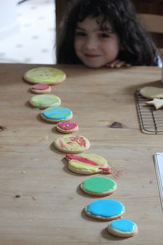 the art room plant: Solar system biscuits