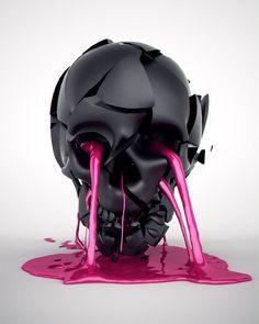 Skull Art - Luke Dwyer Motion Graphics Design & 3D Animation Brisbane Australia
