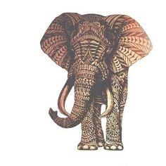 Elephant, Indian, print