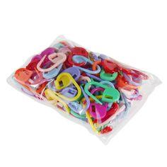 Plastique de haute qualité marqueurs porte - aiguille Clip artisanat 50 pcs Mini Mix tricot Crochet de verrouillage point 50 pcs