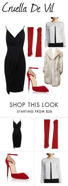 """""""Cruella De Vil"""" by riki-davis on Polyvore featuring Dsquared2, Christian Louboutin and Chelsea Rose"""
