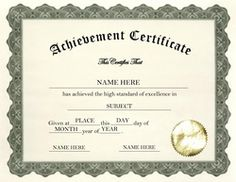 certificates of completion templates google search teaching