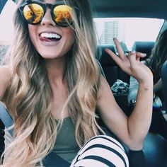 """Car ridesand my fav sunnies from @diffeyewear use the code 'okaspen' for 25 percent off!"""