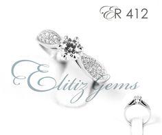 #weddingring Diamond solitaire 0.29 ct round diamond engagement ring.