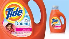 Tide and Downy (Both Proctor & Gamble brands)