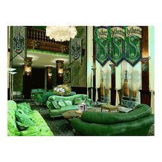 Slytherin common room ❤ liked on Polyvore featuring harry potter, slytherin, backgrounds, hogwarts and photos