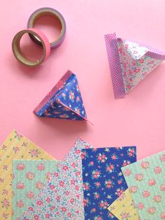 Make Pyramid Paper Pouches With Washi Tape